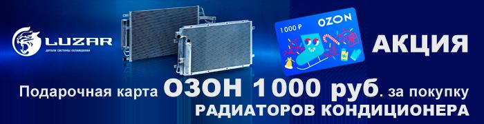 "Акция ""LUZAR дарит 1000 рублей!"""